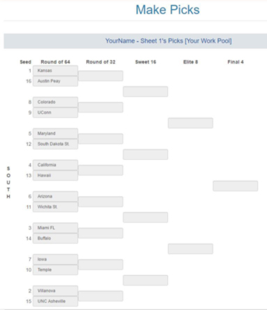 photo regarding Printable 64 Team Bracket titled NCAA Pool Trial - Functions for operating your pool upon
